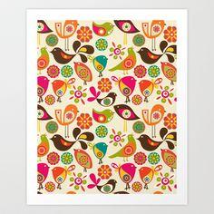 Little+Birds+Art+Print+by+Valentina+-+$18.00 #modernsPIN