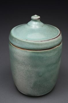 "Original post -""Splotchy speckled green lidded jar. Jeff Pender""  Me - ""Hey that's my professor!"""