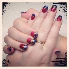 .@Kathleen Palmer   Yes this #fangirl just got a #Wonder_Woman themed #manicure love it!   Webstagram - the best Instagram viewer
