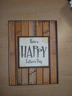 Any occasion card for guys. Again, directions not very specific, but enough to get the idea.