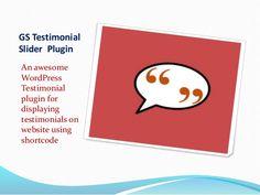 Best WordPress Testimonial Plugin | gSamdani.Com