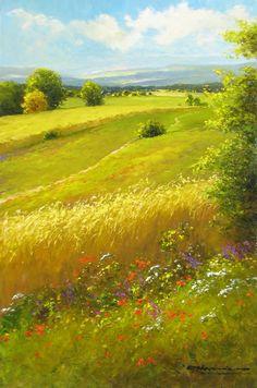 """Nesvadba """"Swaying Wheatfield"""" Size: 36 x 24 www.artshopnc.com"""