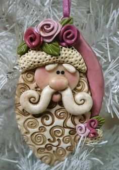 Rose Santa by MICHELLE ZINK | Polymer Clay Planet