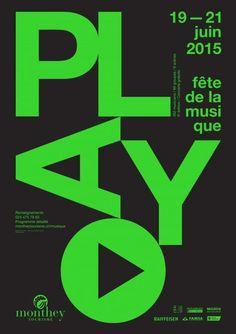 Fête de la musique — Affiche F4 — Play