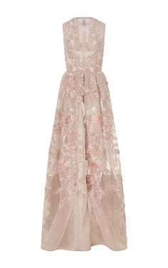Embroidered A Line Gown by ELIE SAAB for Preorder on Moda Operandi