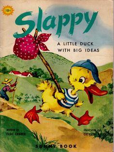 vintage kids book Slappy great retro by OnceUponABookshop on Etsy, $4.50