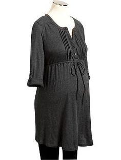 $24.94 Maternity Tie-Waist Slub-Knit Tunic   Old Navy- M