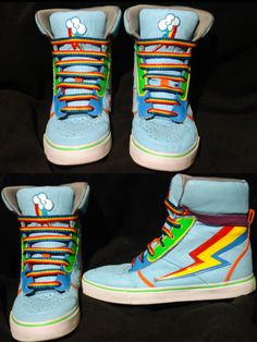 rainbow dash shoes by RizCifra.deviantart.com