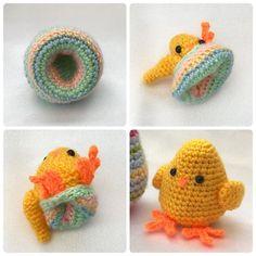 hookedonpatterns:: Easter Egg Flips Bunny & Chick #crochetpattern available on Ravelry or via our website hookedonpatterns.com #hookedonpatterns #crochet #crochetdesigner #crochetinspiration #crocheted #crocheting #crochetlove #crochetdesign #crochetaddict #handmade #craft #hobby #easter #egg #easteregg #flips #flipout #bunny #chick #cute #decoration #toy #amigurumi #rabbit #homedecor #homedecoration #pastels #spring #springtime