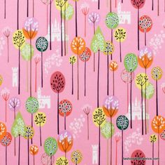 Fabric... Enchanted Forest in Pink by Alexander Henry Fabrics
