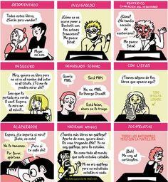Prototipos de clientes de una librería. Del Curso de librero profesional de Mireia Pérez.