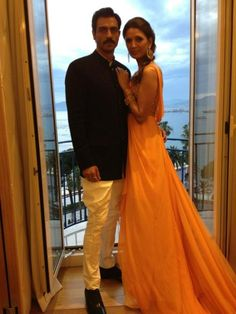 The pose lol; Arjun Rampal in Rohit Bal & Mehr Jessia in Tarun Tahiliani at Cannes Rohit Bal, Indian Wedding Photos, Tarun Tahiliani, Indian Men Fashion, Indian Couture, Indian Attire, Dressed To Kill, Blazers For Men, Cannes Film Festival