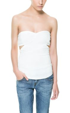 CUT-OUT JACQUARD TOP from Zara