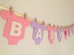 Baby One-Piece Bodysuit BABY GIRL Baby Shower by BubblyNewYork
