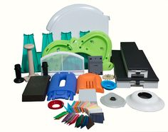 Industrial Custom Components - a sampling of items we have molded for customers Plastic Injection, Industrial, Products, Gadget