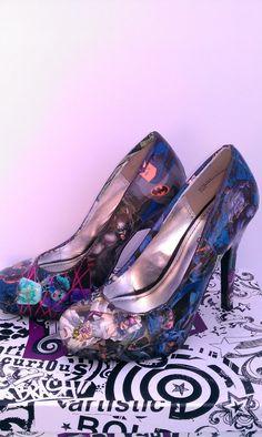 Batman Gets Married wedding shoes