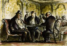 Edward Ardizzone - 'At the Brasserie' 1931