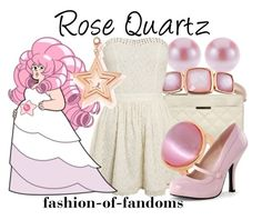 """""""Rose Quartz"""" by fofandoms ❤ liked on Polyvore featuring Bronzarte, Dorothy Perkins and ChloBo"""