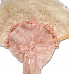 Fabulous Antique with Mauve Victorian Style Lace Fan