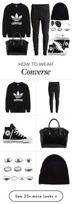 """Style #11679"" by vany-alvarado on Polyvore featuring Converse, adidas Originals, Givenchy, Yves Saint Laurent and Ray-Ban"