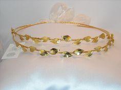 STEFANA Greek Wedding Stefana Orthodox stefana  Grecian stefana Gold Plated by NatalysWeddingArt