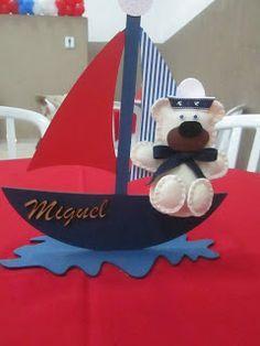 centro de mesa ursinho marinheiro no barquinho - Pesquisa Google