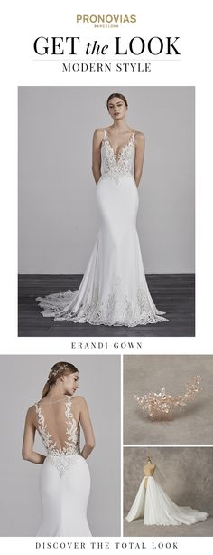 Get the MODERN look! Discover the 2019 Pronovias Preview collection.