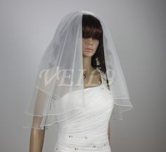 11.00$  Buy now - http://vioyv.justgood.pw/vig/item.php?t=8aak9r13968 - Simple 2 Layer Elbow Length Wedding Veil, rope edge Fingertip Veil Wedding Acces 11.00$