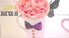 DIY Washable Glitter Mug
