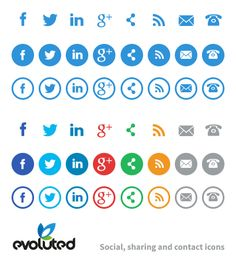 It's always useful to have a set of social, sharing and contact icons to hand when designing your next website, so here's a simple set that we hope you'll find useful. Social Media Icons, Social Media Graphics, Web Design, Logo Design, Custom Google Map, It Cv, Online Labels, Instructional Design, Cover Letter For Resume