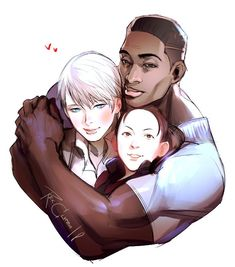 Detroit become human Kara, Luther and Alice By: rex-clypeus.tumblr.com