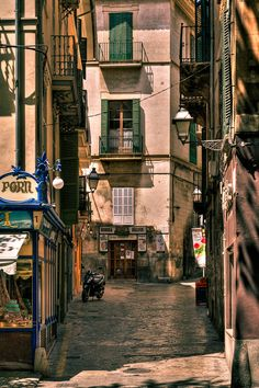 Street in Palma, Mallorca, Spain Cala Bona, Places Around The World, Around The Worlds, Portuguese Culture, Balearic Islands, Travel Around, Country, Places To See, Spain