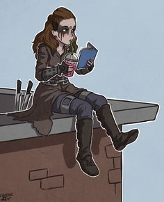 """critter-of-habit: """" Waiting for Clarke to get to the City of Light… """""""