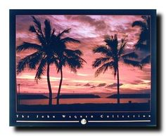Absolutely stunning! The Tropical ocean sunset view with a Hawaiian beach and palm trees at the beach give romantic touch to your room and makes this scenery art print poster, the perfect piece for modern and traditional rooms alike. This wall poster through its magical realistic impression on you and will evoke a calming atmosphere wherever it is hung. Hurry up and buy this poster for its nice quality with wonderful color accuracy