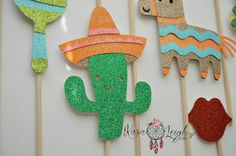 Cinco De Mayo Themed Photo Booth Props door KaraLeighDesigns