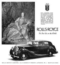 Rolls Royce advertisement.