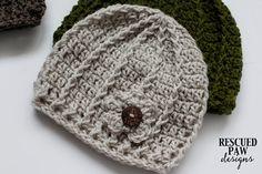 Crochet Pattern ~ the swirl hat - modern - beginner hat - 3 sizes - baby - child - adult - beanie - cap - button hat