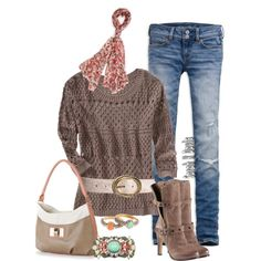 Sweater, Boots and Jeans Again, created by sarah-k-davis on Polyvore