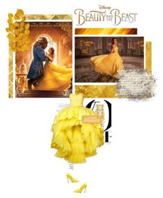"""Disney's ""Beauty and the Beast"""" by nosleeptilbrooklyn on Polyvore featuring Balenciaga, Disney, Mikael D, Dolli, Jose & Maria Barrera, BeautyandtheBeast and contestentry"