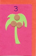 Chicka Chicka Boom Boom @ The Virtual Vine brown pom poms or felt circles for counting coconuts