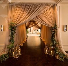Looking for latest Outdoor Wedding Decorations? Check out the trending images of the best Indian Outdoor Wedding Decoration ideas. Wedding Reception Entrance, Wedding Ceremony, Reception Ideas, Outdoor Ceremony, Wedding Draping, Wedding Walkway, Tent Reception, Marriage Reception, Wedding Entrance Decoration