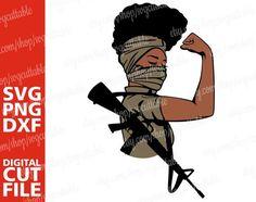 M16 Rifle, Black Girl Cartoon, Afro Men, Trippy Painting, Chocolate Girls, Black Aviators, Rosie The Riveter, Art Sites, Team Shirts