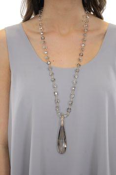 Glass Pendant Drop, Black :: NEW ARRIVALS :: The Blue Door Boutique