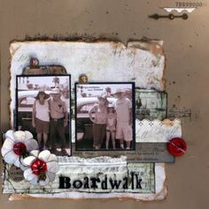 layout using mostly Tim Holtz