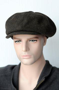 5b028c06 Mens newspaper boy hat Wool newsboy cap Khaki newsboy hat Womens newsie hat  Driver hat Baker boy hat