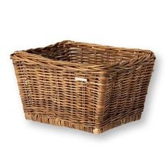 Basil Dalton Wicker Bicycle Basket, Natural Brown