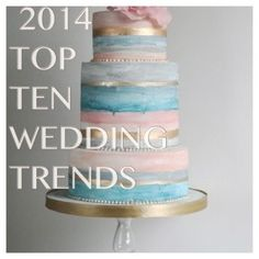 Top 10 Wedding Trends 2014 Wedding Trends Revealed   ------>Blessed Events NY  Follow up for the Do's and Don'ts of Planning Your Wedding