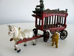 Cast Iron Toy Cast Iron Overland Circus Wagon by vintagediaries, $75.00