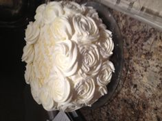 Simple but pretty birthday cake I made for my mom ;)