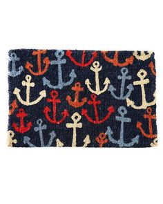 anchor door mat    Garnet Hill Doormat Collection